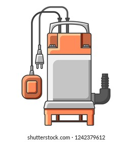 Icon electrical submersible pump. illustration on white background