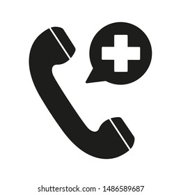 icon emergency call doctor.medicine and health.