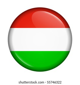 icon with flag of Hungary isolated on white background