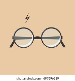 Icon glasses. Glasses in cartoon style.