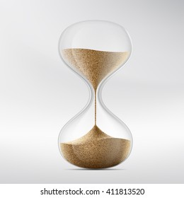 Icon hourglass. Device for measuring time. Stock illustration.