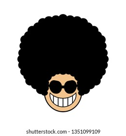 Icon of the person who did Afro hair.