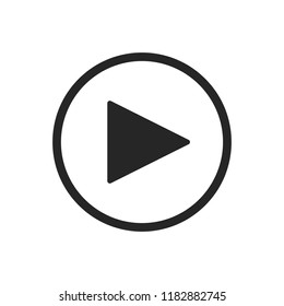 Icon of play button. Play media sign, symbol
