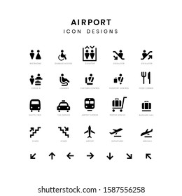 Icon set of Airport Environment