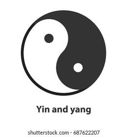 Icon of Yin Yang symbol. Taoism, buddhism, daoism religion sign