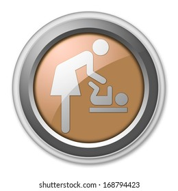 Icon/Button/Pictogram Baby Change