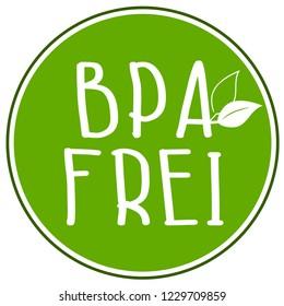 Icons with BPA frei free