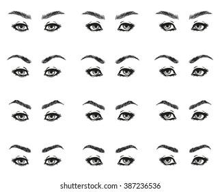 how determine eye shape various types stock vector royalty free