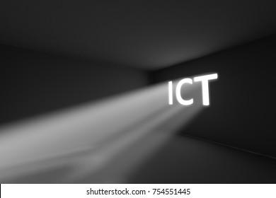 ICT rays volume light concept 3d illustration