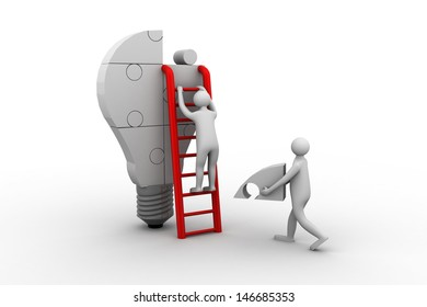 Idea Light Bulb Puzzle