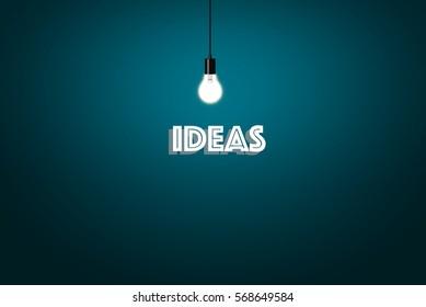 Ideas Concept - Blue Background