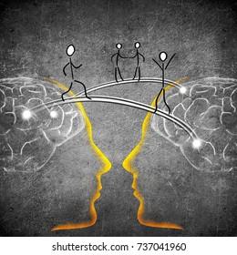 ideas connection concept digital illustration