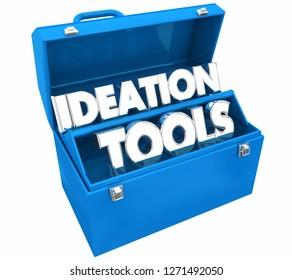 Ideation Tools Brainstorm Creativity Clock Words 3d Illustration