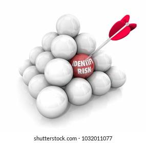 Identify Risk Reduce Liability Danger Mitigation Ball Pyramid 3d Illustration