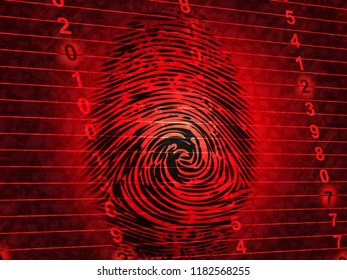 Identity Access Management Fingerprint Entry 3d Illustration Shows Login Access Iam Protection With Secure System Verification