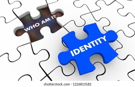 Identity Who Am I Puzzle Pieces 3d Illustration