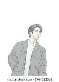 idol, Bandung / Indonesia June 26th 2020 : he is Korean boy band