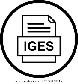 IGES File Document Icon In Trendy Style Isolated Background