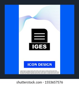 IGES file Isolated On Abstract Background