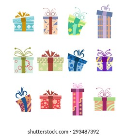 Iimage of Collection of present boxes
