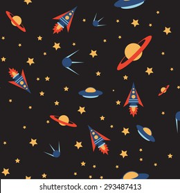 Iimage of a Seamless space colour pattern