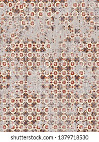 ikat effect abstract linen texture or grunge vintage, ethnic traditional classic ottoman damask motifs  pattern for carpet, rug, scarf, clipboard , shawl pattern. -