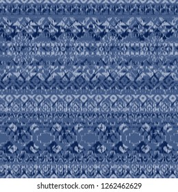 Ikat Ogee background - Ethnic folk horizontal stripes textures seamless pattern. Abstract background for textile design, wallpaper, surface textures. Boho Style