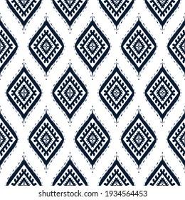 Ikat patterns fabric boho motif aztec textile fabric native African American
