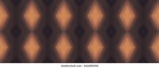 Ikat print. Tie dye seamless pattern. Diamond texture. Organic fabric. Watercolor. Shibori design. Ethnic motifs. Brown and orange colors blur wallpapers. Tribal tile. Ikat textured print.