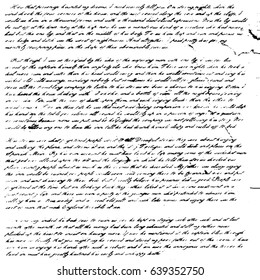 illegible handwriting font pattern old letter template vintage text illustration sheet of paper