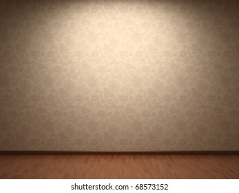 Illuminated fabric wallpaper
