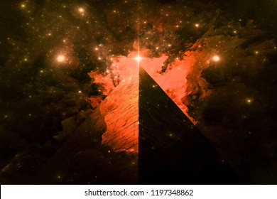 Illuminati Pyramid and the Orion's Belt fine art