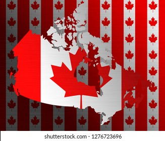 Illustraion of Canadian Flag