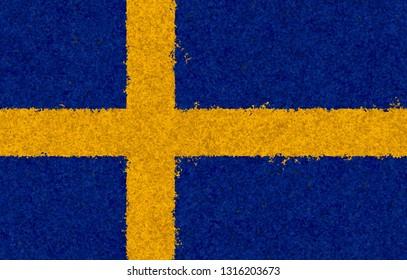 Illustraion of Swedish Flag