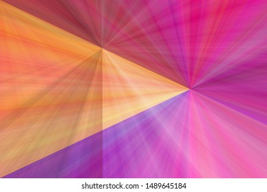 Illustrated background, triangle texture, video play button. Multi-colored colors: purple, red, pink, orange.
