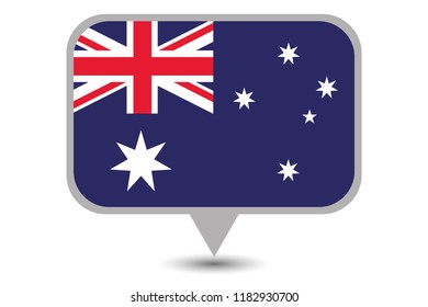 An Illustrated Country Flag of  Australia