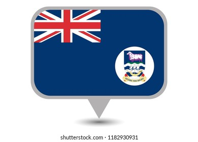 An Illustrated Country Flag of  Falkland Islands