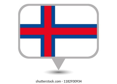 An Illustrated Country Flag of  Faroe Islands