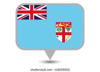 An Illustrated Country Flag of  Fiji