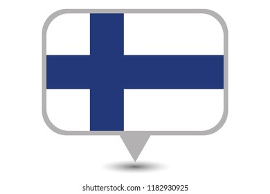 An Illustrated Country Flag of  Finland