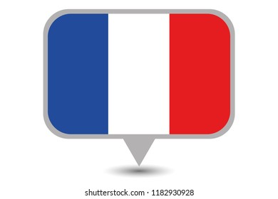 An Illustrated Country Flag of  France