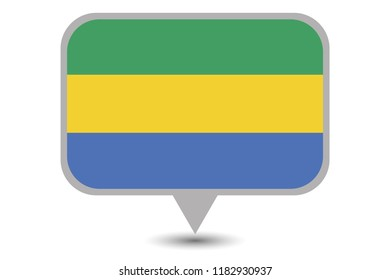 An Illustrated Country Flag of  Gabon
