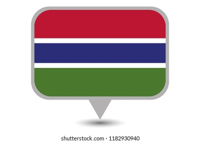 An Illustrated Country Flag of  Gambia