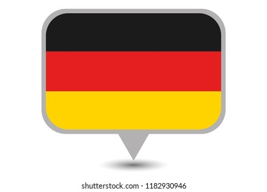 An Illustrated Country Flag of  Germany