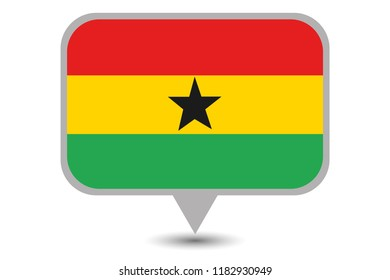 An Illustrated Country Flag of  Ghana