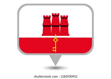 An Illustrated Country Flag of  Gibraltar