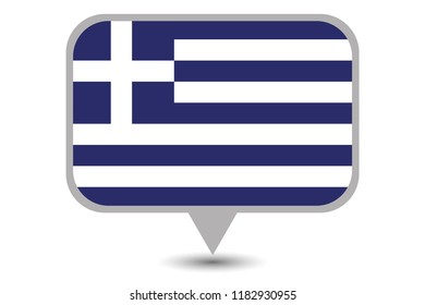 An Illustrated Country Flag of  Greece