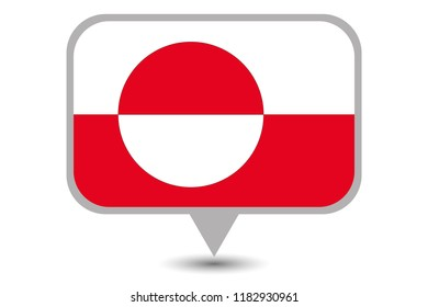 An Illustrated Country Flag of  Greenland