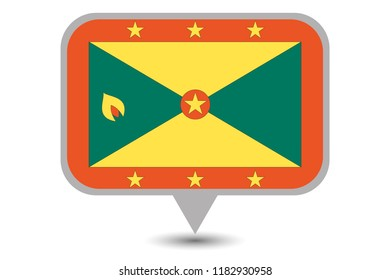 An Illustrated Country Flag of  Grenada