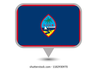 An Illustrated Country Flag of  Guam